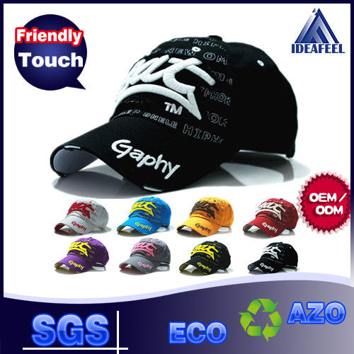 Structure Unisex Soft Cotton Baseball Caps Self Strap / Metal / Plastic Closure