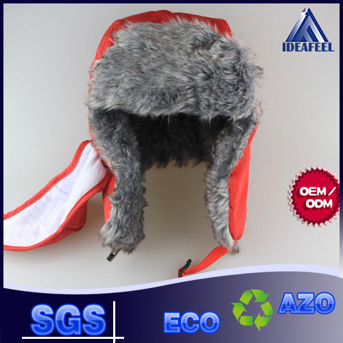 Mens Winter Hat With Brim And Ear Flaps , Plastic Closure Winter Wool Hats For Men