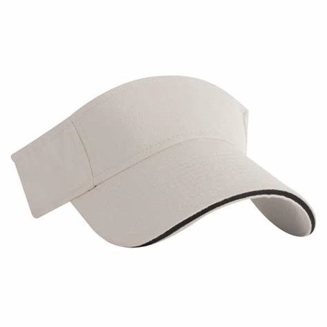 Brushed Cotton Twill Sun Visor Hat With Blank Embroidered Logo / Velcro Closure